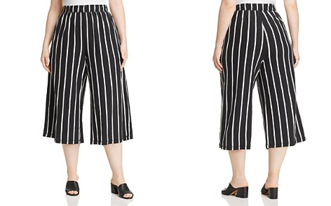Eileen Fisher Plus Striped Wide-Leg Crop Pants - Bloomingdale's_2