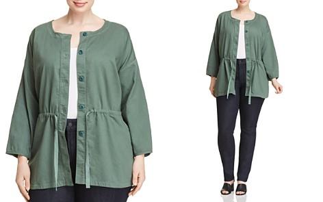Eileen Fisher Plus Organic Cotton Drawstring Jacket - Bloomingdale's_2