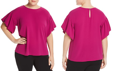 VINCE CAMUTO Plus Bubble-Sleeve Top - Bloomingdale's_2