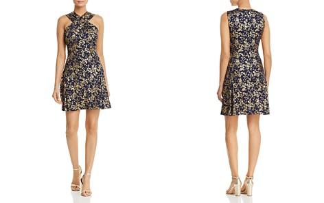 MICHAEL Michael Kors Metallic Floral-Print Dress - Bloomingdale's_2
