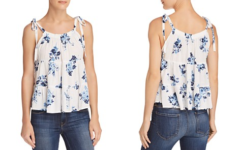 AQUA Floral Print Tiered Trapeze Top - 100% Exclusive - Bloomingdale's_2