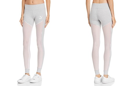 PUMA Invisible T7 Mesh-Inset Leggings - Bloomingdale's_2