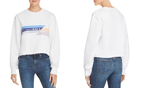rag & bone/JEAN Glitch Logo Cropped Sweatshirt - Bloomingdale's_2