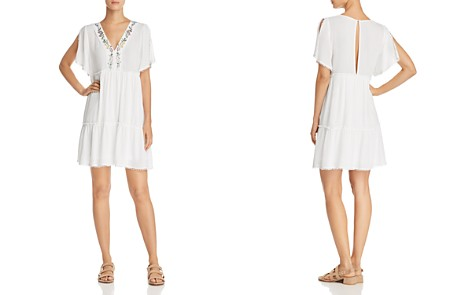 En Créme Embroidered Swing Dress - 100% Exclusive - Bloomingdale's_2