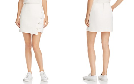 Finders Keepers Mila Asymmetric Button-Front Skirt - Bloomingdale's_2