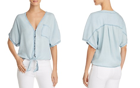 PAIGE Baylee Chambray Shirt - Bloomingdale's_2