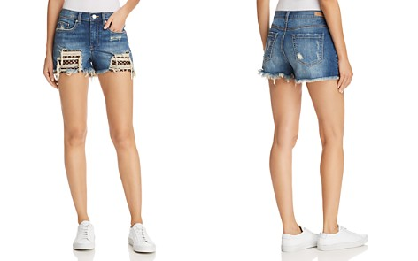 BLANKNYC Mesh Detail Distressed Denim Shorts in Futureproof - 100% Exclusive - Bloomingdale's_2