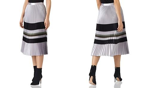 REISS Sophia Metallic Pleated Midi Skirt - Bloomingdale's_2