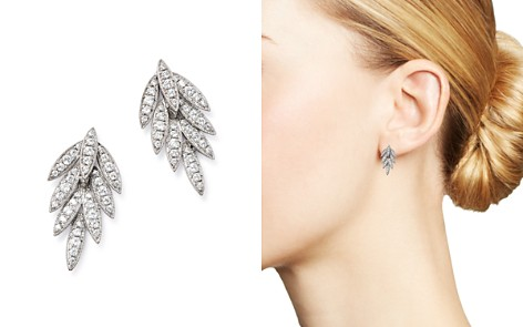 Bloomingdale's Diamond Feather Earrings in 14K White Gold, 0.35 ct. t.w. - 100% Exclusive _2