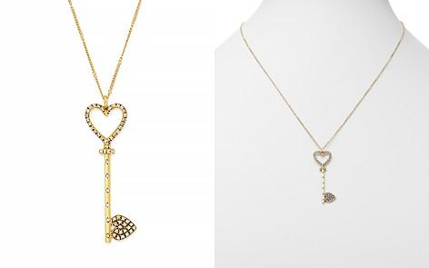 "SUEL Blackened 18K Yellow Gold Heart Key Pendant Necklace, 20"" - Bloomingdale's_2"