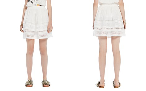 Scotch & Soda Geometric Lace Tiered Ruffle Skirt - Bloomingdale's_2