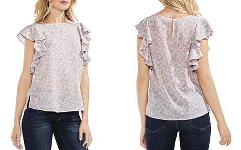 VINCE CAMUTO Whisper Ditsy Floral Ruffle-Sleeve Top - Bloomingdale's_2