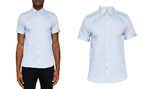 Ted Baker Gudvu Geo Regular Fit Button-Down Shirt - Bloomingdale's_2
