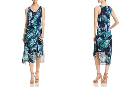 NIC+ZOE Leaf Impression Asymmetric Dress - Bloomingdale's_2