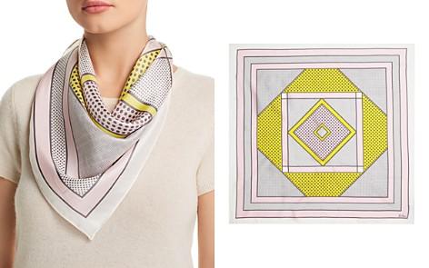Echo Bayside Geometric Silk Square Scarf - Bloomingdale's_2