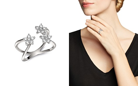 Bloomingdale's Diamond Flower Open Ring in 14K White Gold, 0.60 ct. t.w. - 100% Exclusive _2