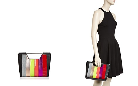 Nasty Gal Open Bar Striped Clutch - Bloomingdale's_2