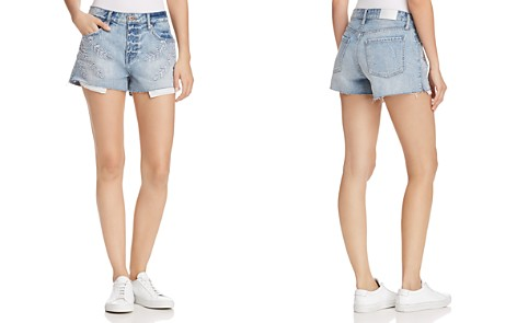 Pistola Winston Embroidered Denim Shorts in Ivy - 100% Exclusive - Bloomingdale's_2