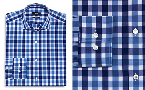 BOSS Exploded Check Slim Fit Dress Shirt - Bloomingdale's_2