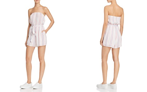 AQUA Striped Strapless Romper - 100% Exclusive - Bloomingdale's_2