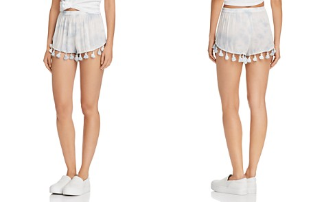 AQUA Tassel Tie-Dye Shorts - 100% Exclusive - Bloomingdale's_2