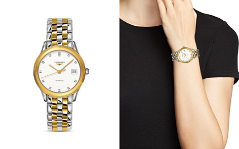 Longines Flagship Diamond Two-Tone Watch, 35.6mm - Bloomingdale's_2
