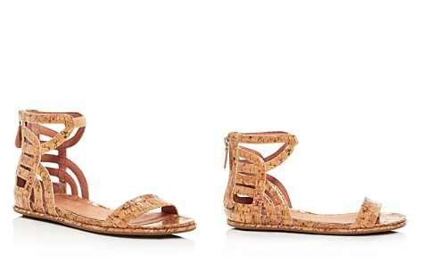 Gentle Souls Women's Larisa Glossy Cork Ankle Strap Demi Wedge Sandals - Bloomingdale's_2