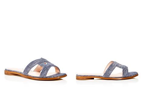 Avec Les Filles Women's Blaye Denim Slide Sandals - Bloomingdale's_2