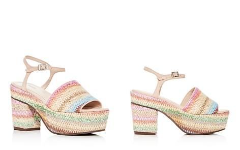 SCHUTZ Women's Ziquiele Raffia Block Heel Platform Sandals - Bloomingdale's_2