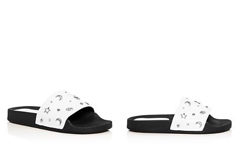 Rebecca Minkoff Women's Thunder Embellished Leather Slide Sandals - Bloomingdale's_2