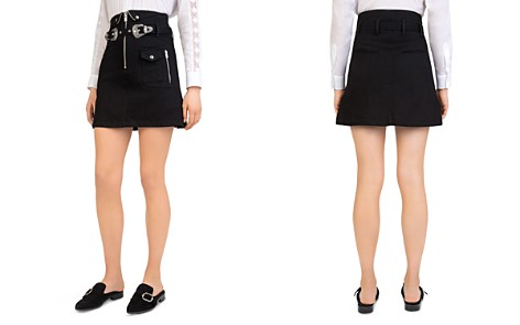The Kooples Western Buckle A-Line Skirt - Bloomingdale's_2