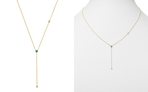 """Zoë Chicco 14K Yellow Gold Turquoise & Diamond Y Necklace, 18"""" - Bloomingdale's_2"""