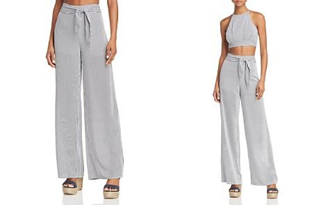 AQUA Striped Wide-Leg Pants - 100% Exclusive - Bloomingdale's_2