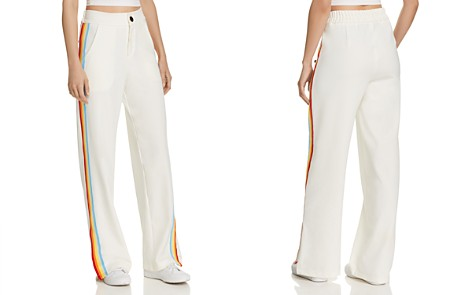 AQUA Rainbow-Stripe Track Pants - 100% Exclusive - Bloomingdale's_2