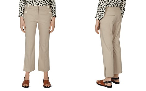 Gerard Darel Pantalon Cropped Button-Detail Pants - Bloomingdale's_2