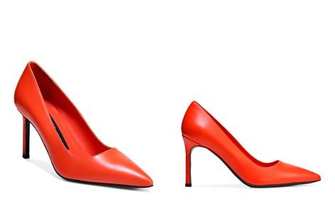 Via Spiga Women's Nikole Leather Pointed Toe High-Heel Pumps - Bloomingdale's_2