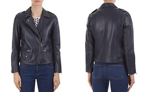 Gerard Darel Valeria Leather Moto Jacket - Bloomingdale's_2