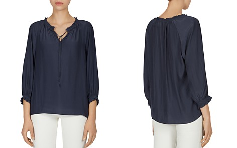 Gerard Darel Celia Shirred Drawstring Blouse - Bloomingdale's_2