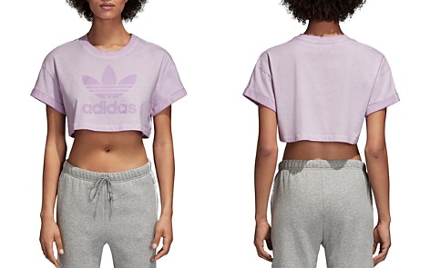 adidas Originals Trefoil Cropped Tee - Bloomingdale's_2
