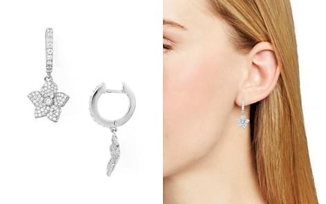 kate spade new york Hoop & Pavé Bloom Drop Earrings - Bloomingdale's_2