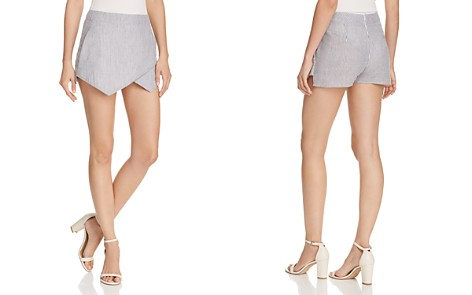 AQUA Seersucker Skort - 100% Exclusive - Bloomingdale's_2