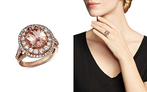 Bloomingdale's Morganite & Diamond Statement Ring in 14K Rose Gold - 100% Exclusive _2
