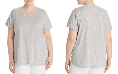 Lucky Brand Plus Embroidered-Daisy Tee - Bloomingdale's_2