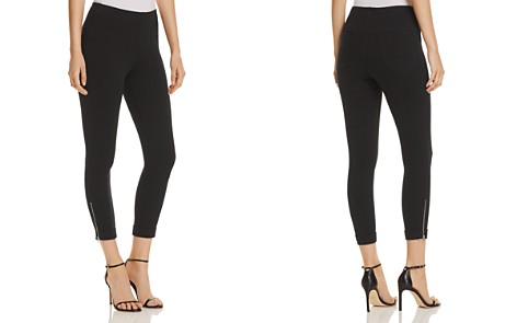 Lyssé Denim Zip-Cuffed Crop Leggings - 100% Exclusive - Bloomingdale's_2