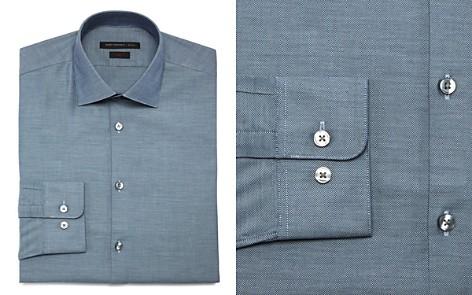 John Varvatos Star USA Textured Solid Regular Fit Dress Shirt - Bloomingdale's_2