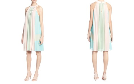 CATHERINE Catherine Malandrino Aurore Pleated Color Block Shift Dress - Bloomingdale's_2