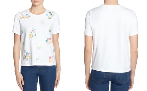 CATHERINE Catherine Malandrino Martine Floral Appliqué Tee - Bloomingdale's_2