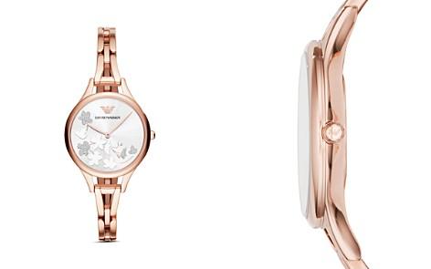 Emporio Armani Ladies' Floral Motif Stainless Steel Watch, 32mm x 43mm - Bloomingdale's_2
