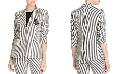 Lauren Ralph Lauren Striped Monogram-Patch Blazer - Bloomingdale's_2