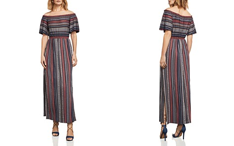 BCBGMAXAZRIA Charla Striped Off-the-Shoulder Maxi Dress - Bloomingdale's_2